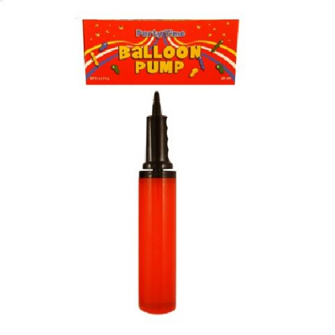 Balloon Pump For Inflating Balloons Assorted Colours -  1 Supplied